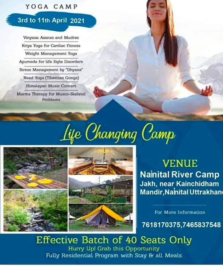 Empty your mind with Nature YOGA Camping