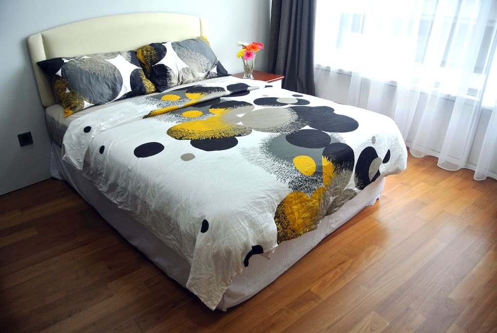 Double beds available in both bedroom.