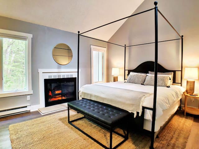 Master Suite with electric fireplace