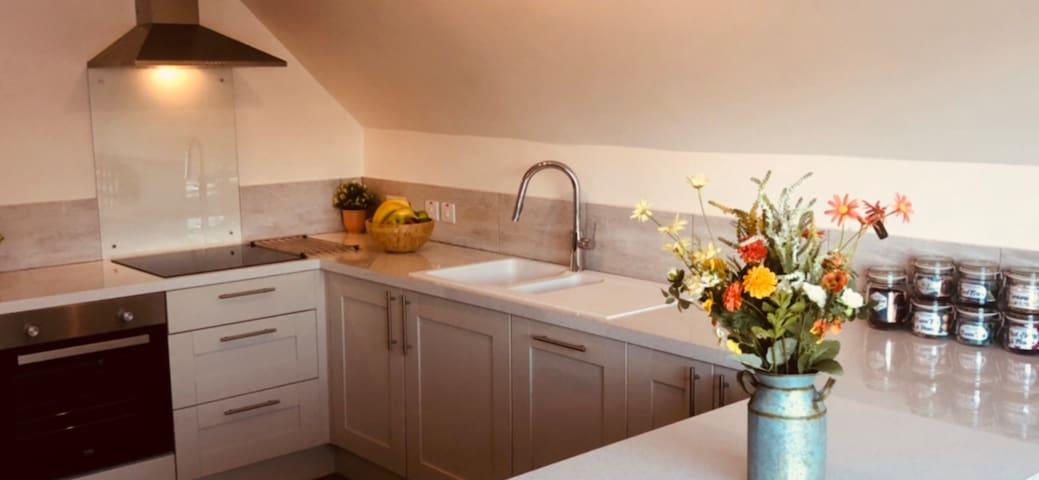 Beautiful modern fitted kitchen