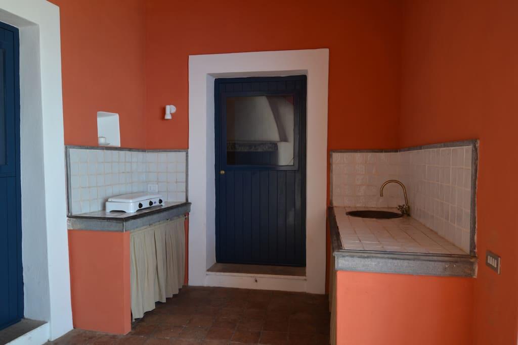 Cucina esterna- fuochi