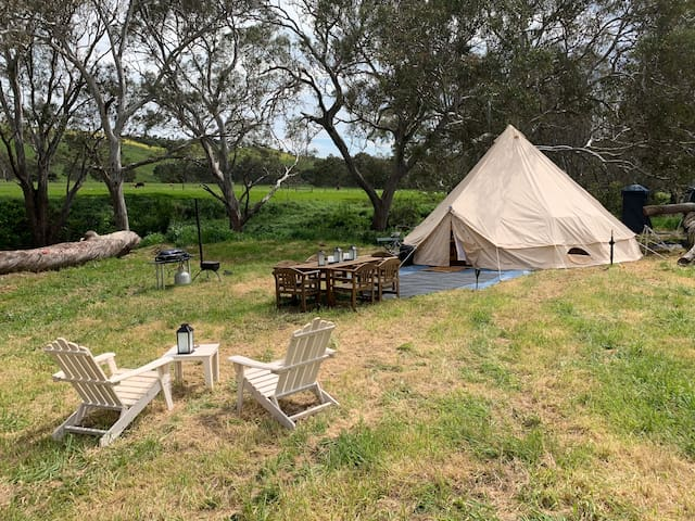 Glamping At Our Vineyard By The River