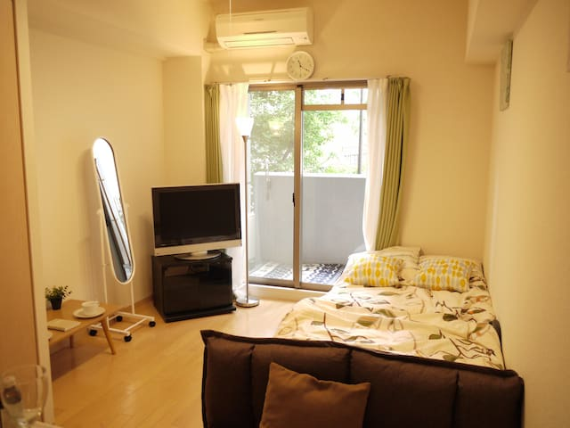 only 7min☆on foot from OSAKA,UMEDA,Yodoyabashi sta - Osaka - Apartament