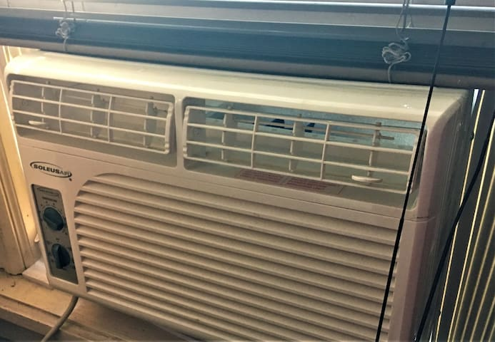 Both guest rooms have an air conditioner.