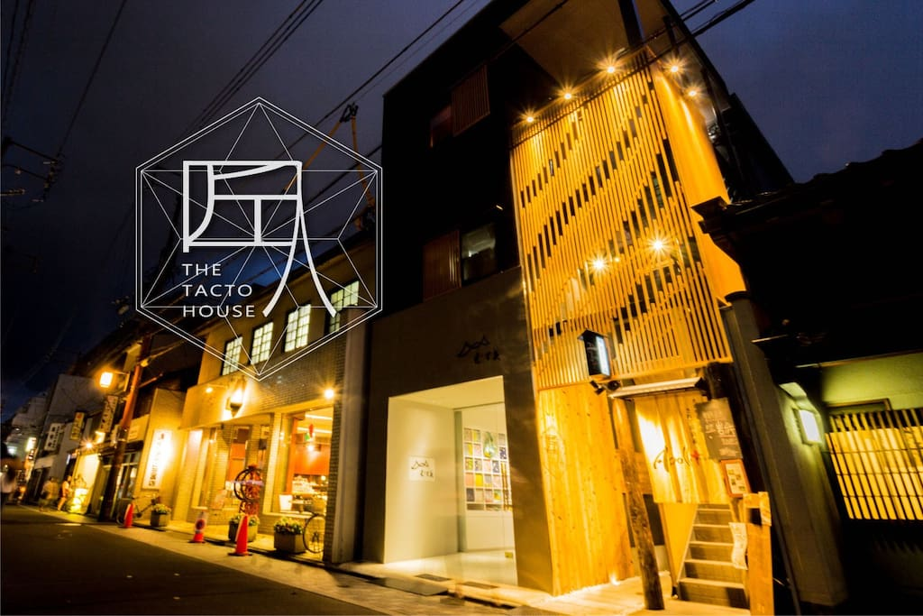 The Tacto House is designed in a mixture of Japanese modern and traditional taste. It's easy to find our unique architecture on the road!