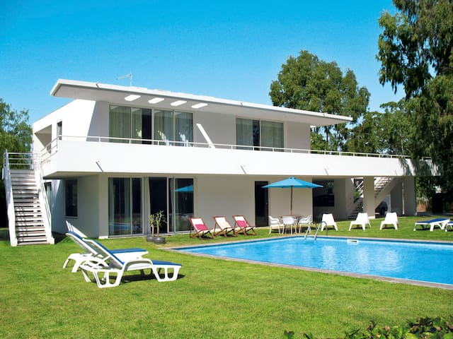 Modern holiday house with pool