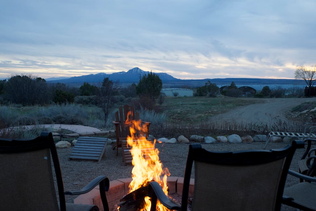 Fire Pit and View of UTE