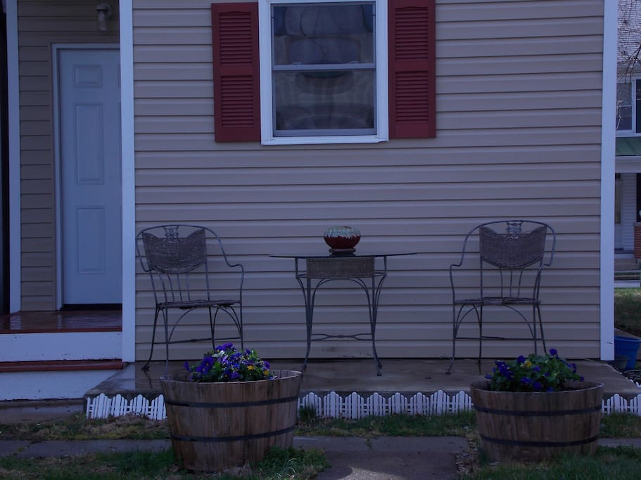 The back porch, coffee anyone?