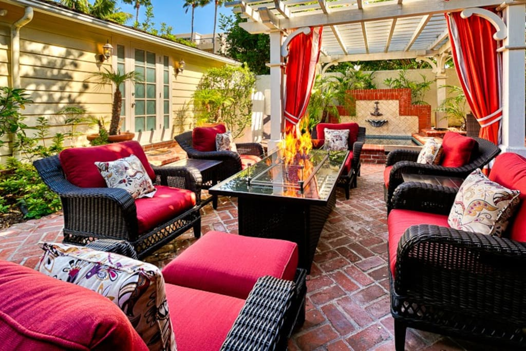 Outdoor area with plenty of room to lounge and soak up the San Diego sun or relax in the spa.