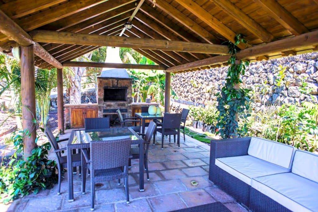 Private barbecue area