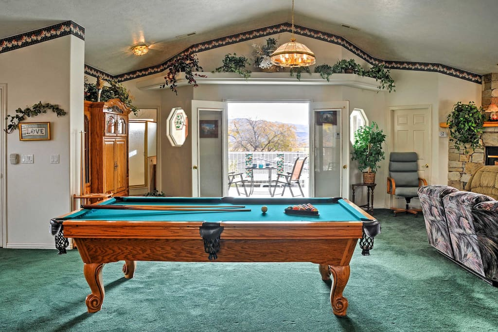 Challenge your guests to a game of pool.