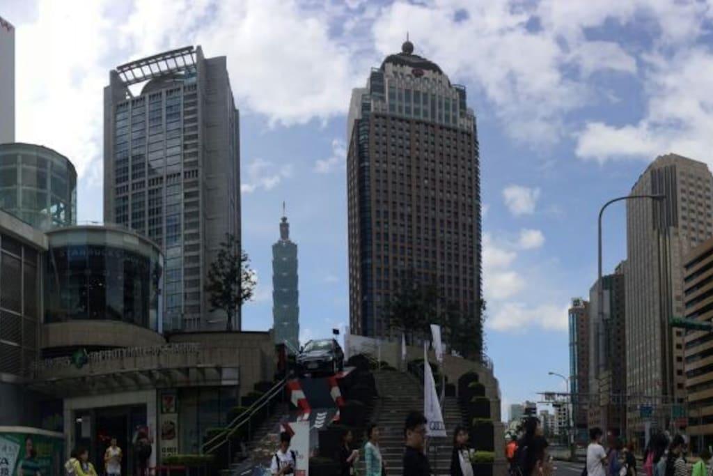 Taipei City Hall Bus Station台北市政府轉運站(機場接駁巴士1960'大有巴士'有在此停靠)