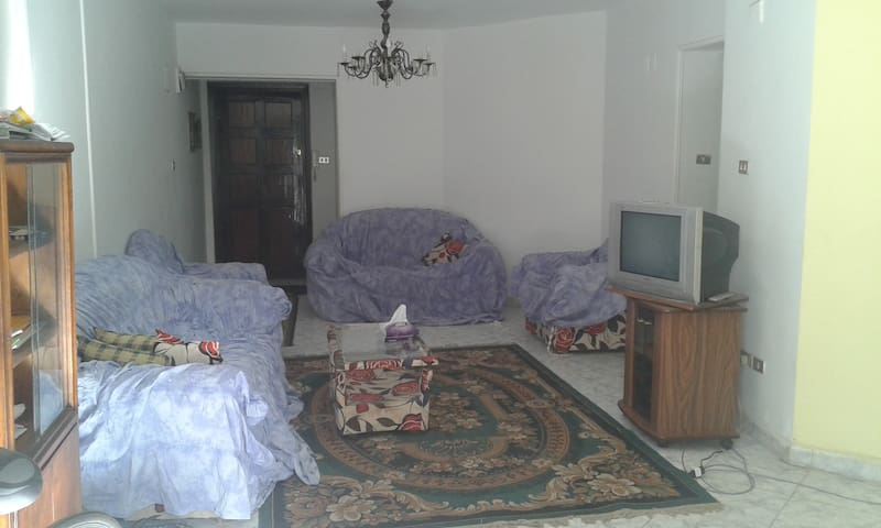 Chambre d'amis avec deux lits - Le Caire - Appartement en résidence
