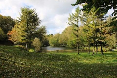 Eén unieke kampeerplaats aan de rand van de vijver