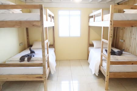 4-Bed Mixed Dorm Room with Breakfast @ Bira