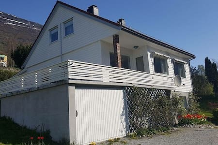 Own house and garden in beautiful Stryn