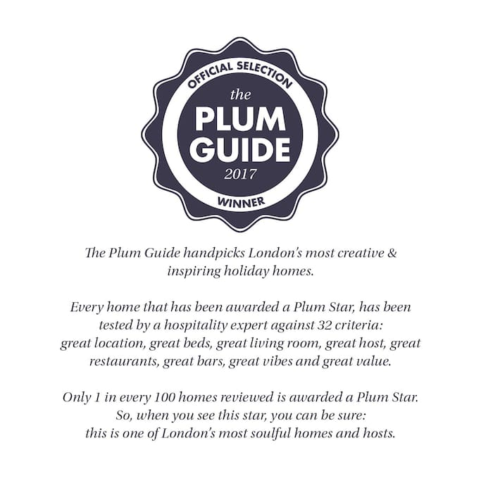 Selected as a Plum Guide Property (very  selective process)