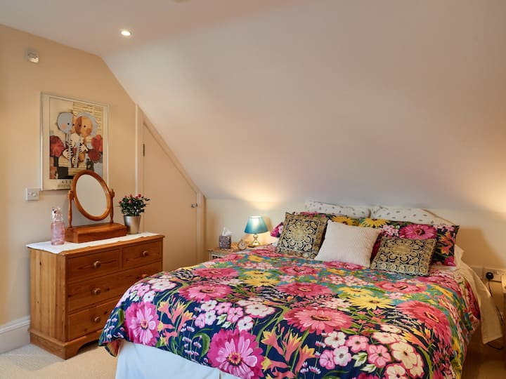 Lovely double room with private shower room.