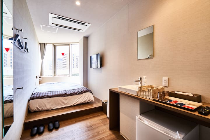 Double Room with Shower Room in Central of Osaka