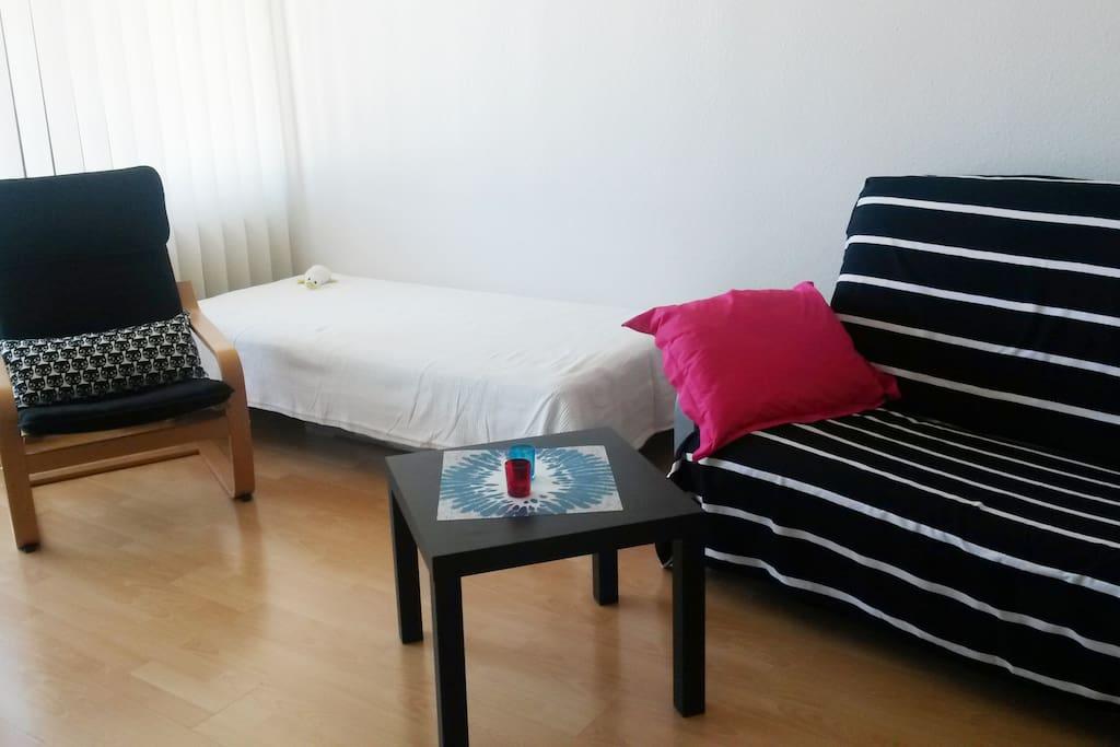 sympathique appartement 1 pi ce avec vue sur parc appartements louer mulhouse alsace. Black Bedroom Furniture Sets. Home Design Ideas