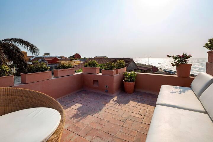 Car035 - 3 bedroom villa with beautiful sea view in Cartagena