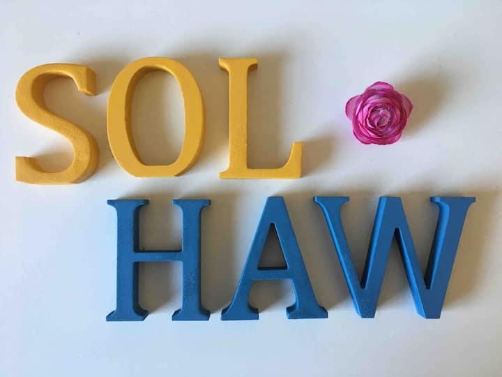 """""""SOL & HAW"""" - Anneks, 4 personer. Tæt på natur."""