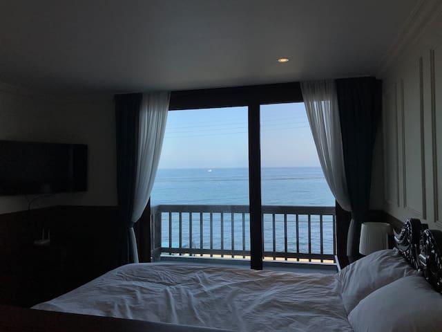 애월바다 바로 앞/객실, 욕조 완벽오션뷰ღ Jeju on the sea #standard2