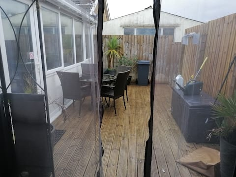 A Secluded decking a  suntrap area to enjoy.