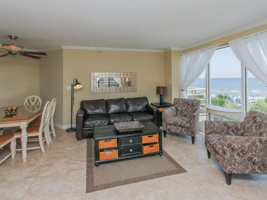 Living Room with Balcony Access at 1301 Villamare