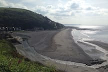 The village of Seaton pictured here is half a mile away from the apartment and also has a beach, bistro bar, pub, beach cafe, lots of children's activities including a multi use games area and country park great for walking and cycling and is lifeguarded by the RNLI May - September.