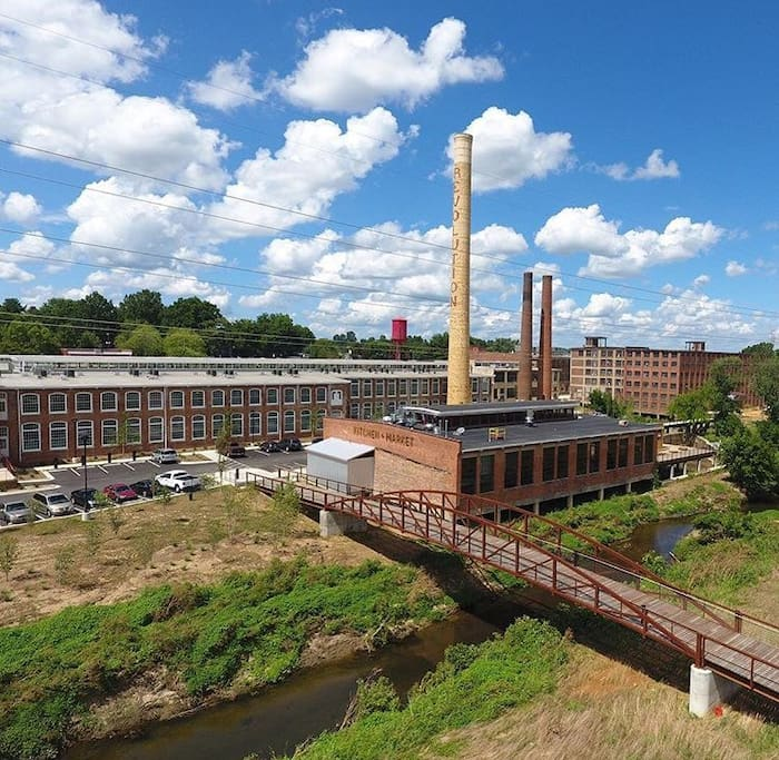 Revolution Mill + Natty Green's Restaurant/Brewery is just at the end of our street!