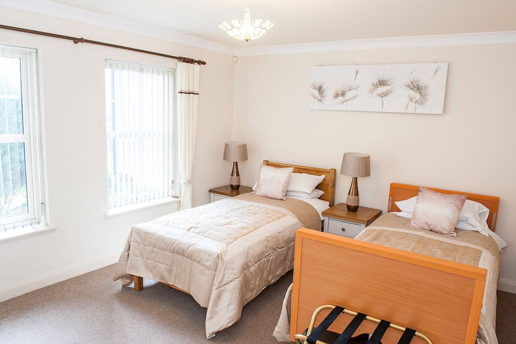Bedroom 1 offers 1 x hospital bed and 1 x electric bed and en suite bathroom
