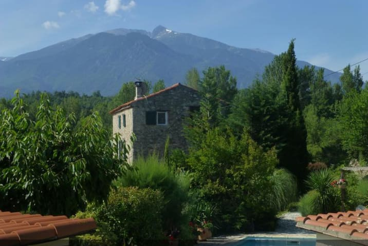 View of the house & Mount Canigou