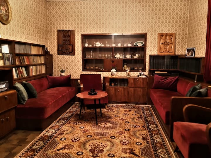 Cozy & quiet house with unique vintage atmosphere.