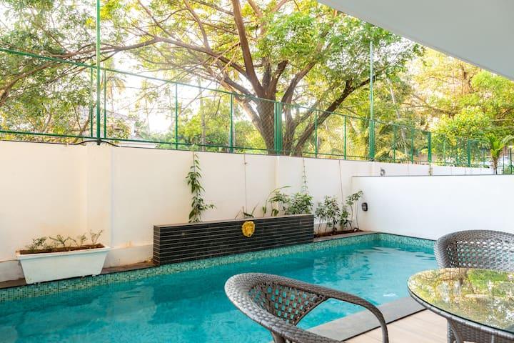 Villa Zuari 3BHK Premium Villa -Private Pool- Baga