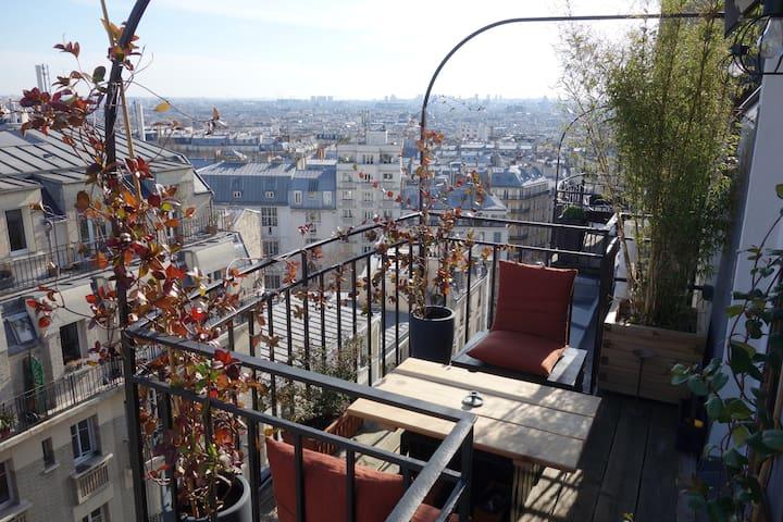 Montmartre Sacré Coeur Terrasse Vue Exceptionnelle