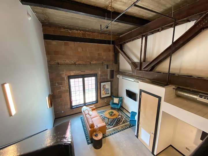 Two Floor Loft in Renovated Historic Building!