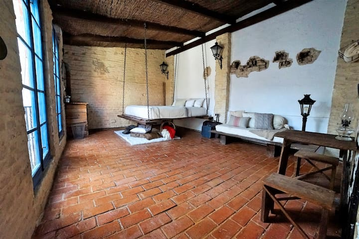 500 year old Santa Cruz Studio with rooftop