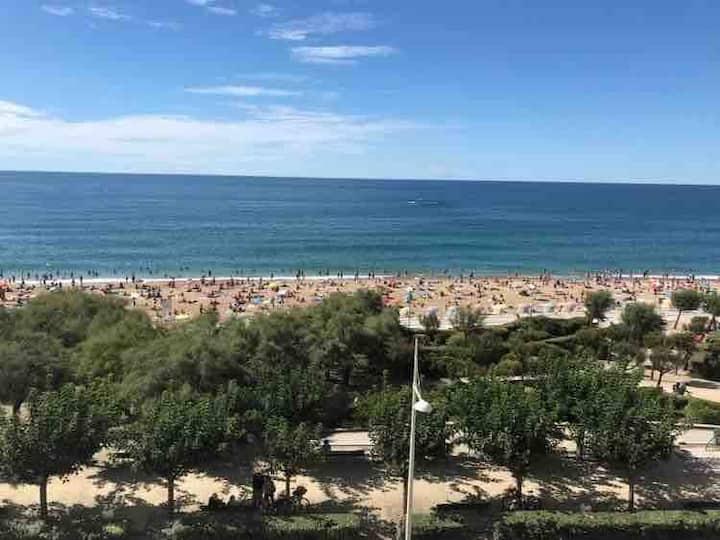 Front de mer, belle vue mer grand plage et piscine