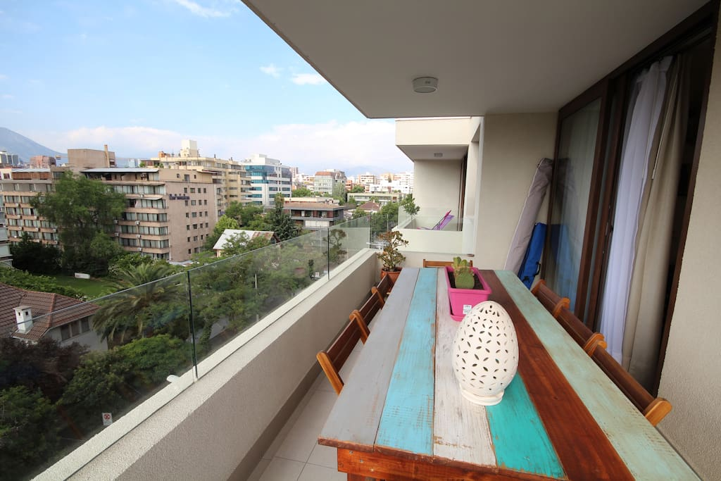 Terrassa con vista sobre los Andes / Terrace with view on the Andes