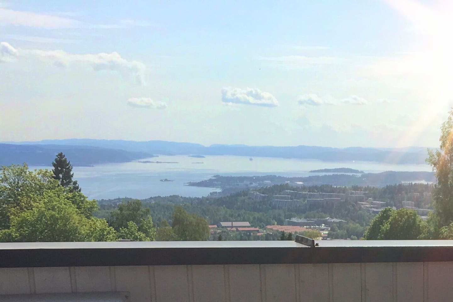 Magnificent view from the veranda overlooking the Oslo Fjord