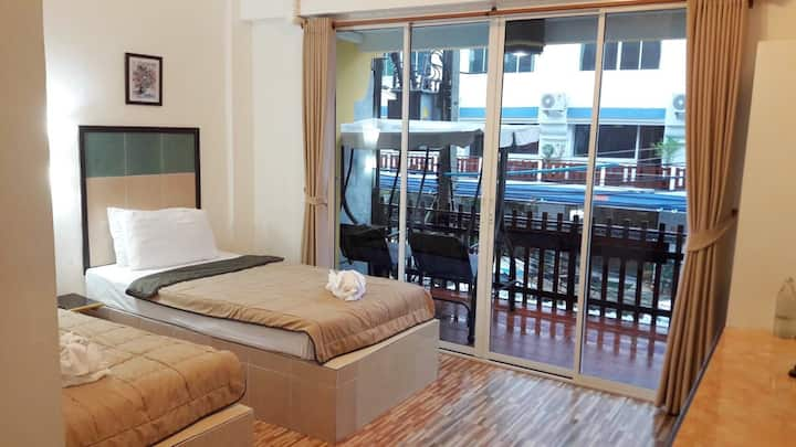 Krabi City [Budget Twin] Private A/C Room