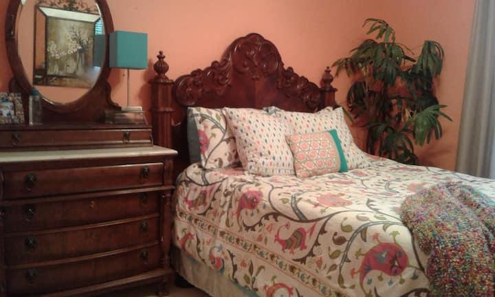 Contemporary bedroom in OKC/Ed mond home