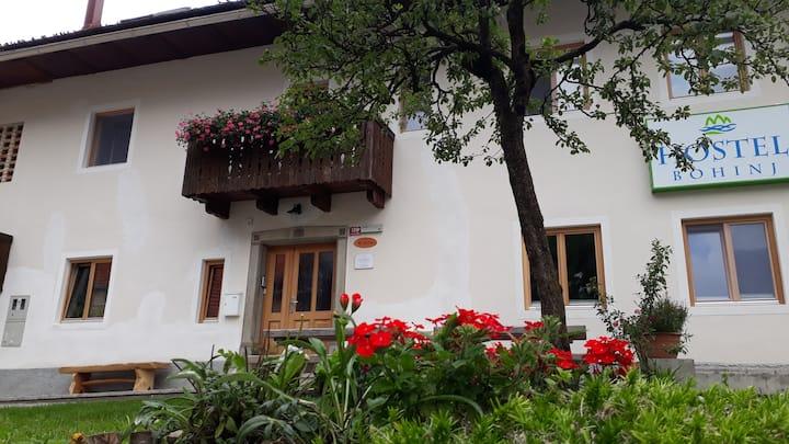 family room for 4, attic, Hostel Bohinj
