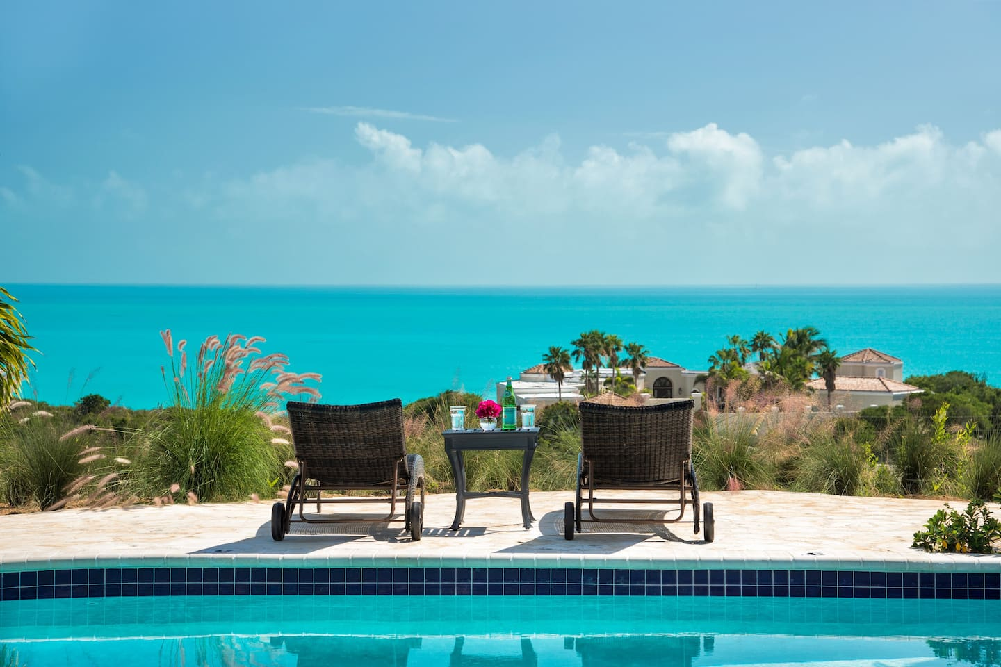 No better place to sip a drink overlooking the Caicos bank