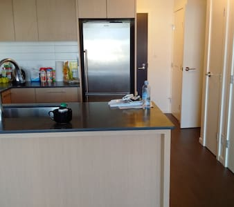 Fully furnished living room, bedroom and kitchen. Located in the heart of Richmond. Steps away from canadaline station and shopping centres. There's a fitness facility in the building.