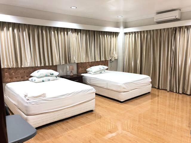 BEDROOM 2, 2 QUEEN SIZED BEDS