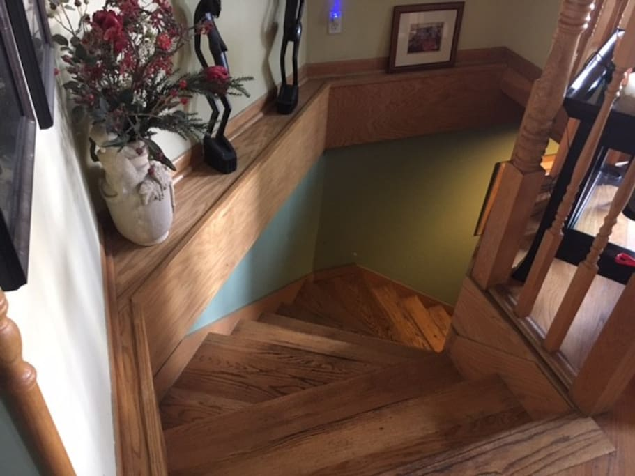 Stairs from inside home to lower level