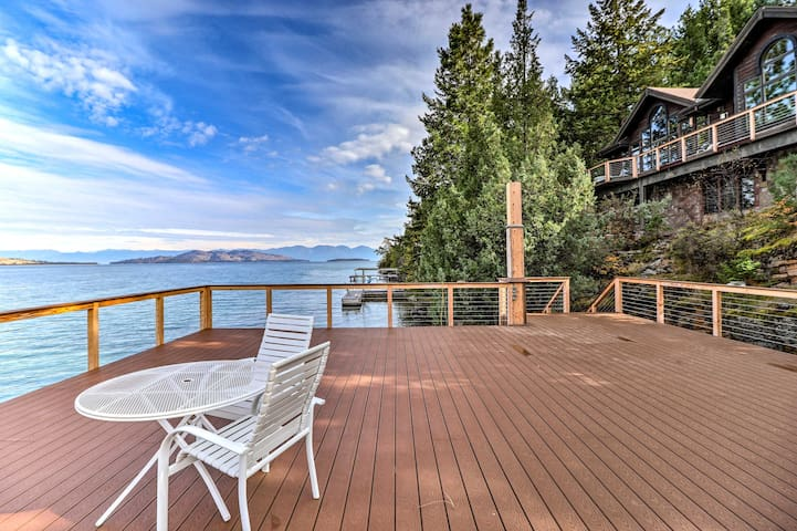 NEW! Serene Escape on Flathead Lake w/ Boat Dock!