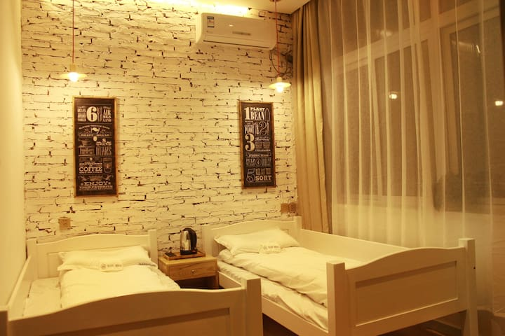 Located in the island of the moon, twin bed room - Fushun Shi - Hotel butikowy